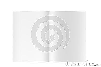 Leerzeichenzeitschrift/-buch der Qualitäts 3d geöffnet