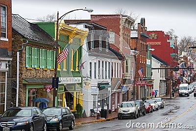 Leesburg,弗吉尼亚 编辑类库存照片