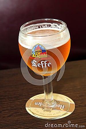 Leffe Belgian Beer Editorial Stock Image