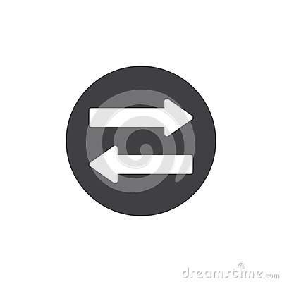Free Left And Right Direction Arrows Icon Vector Stock Image - 104747021