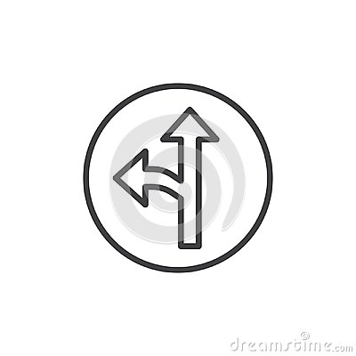 Free Left And Straight Arrow Line Icon Royalty Free Stock Images - 104463229