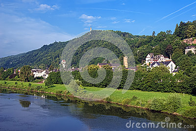 The left bank of the Moselle River in Trier