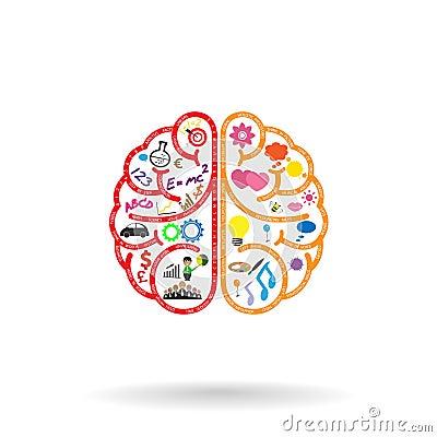 Free Left Brain And Right Brain Symbol,creativity Sign, Royalty Free Stock Photo - 36190725