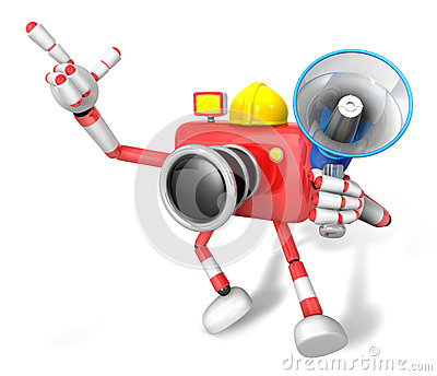 The left hand point the finger Engineer Red Camera Character. Th