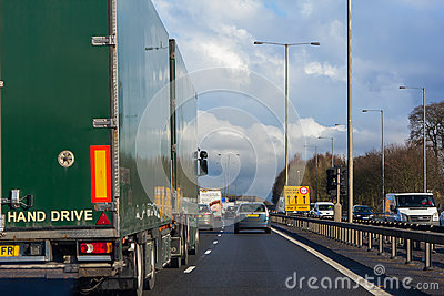 Left-hand traffic Editorial Stock Photo