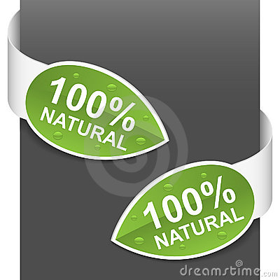 Left and right side signs - 100  natural