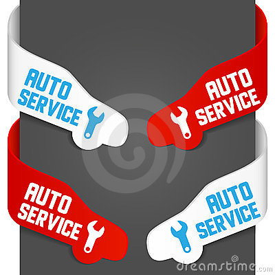 Left and right side signs - Auto service