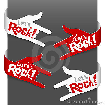 Left and right side signs - Let s Rock!
