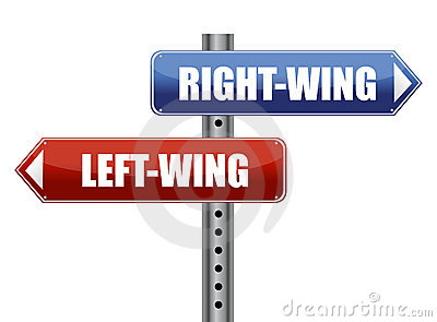 Left and right wing sign illustration