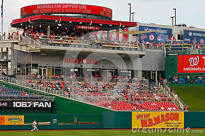 Leftfield bleachers at Nationals Park Editorial Photo
