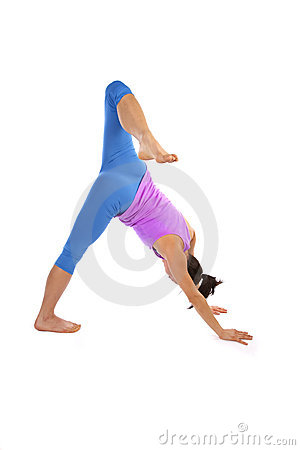 Leg bent yoga stretch