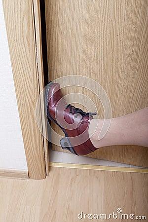 Leg and door.
