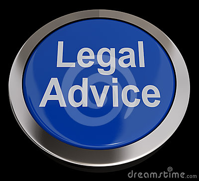 Legal Advice Button In Blue