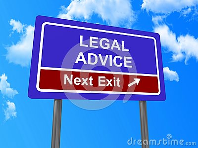 Legal advice next exit sign