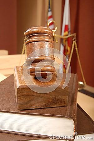 Legal books in court
