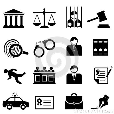 Free Legal, Law And Justice Icons Royalty Free Stock Photo - 27277505
