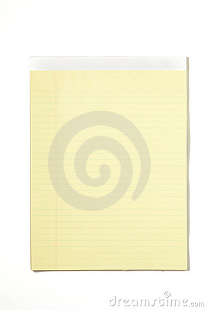 Legal Pad Isolated on White