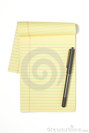 Legal Pad with pen