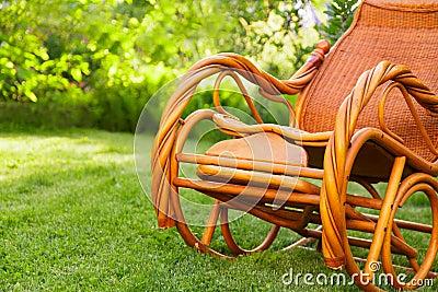 Lege schommelstoel