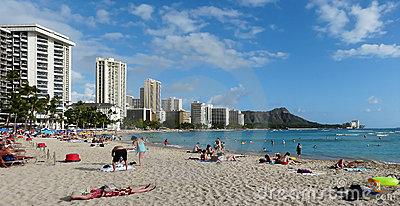 Legendary Waikiki Beach Editorial Photography