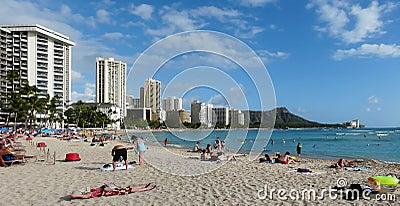 Legendary Waikiki Beach Editorial Photography
