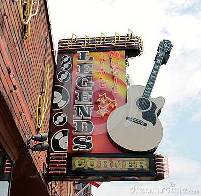Free Legends Live Music Corner Downtown Nashville Stock Photo - 41075660
