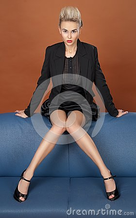 Leggy business woman