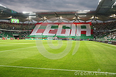 Legia Warsaw Stadium Editorial Stock Image