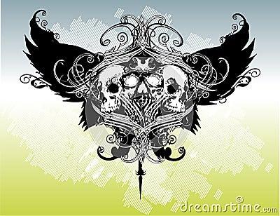 Legion of skulls vector illustration