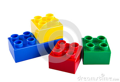 Lego Building Blocks Stock Photo