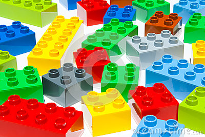 Lego building blocks Stock Photo