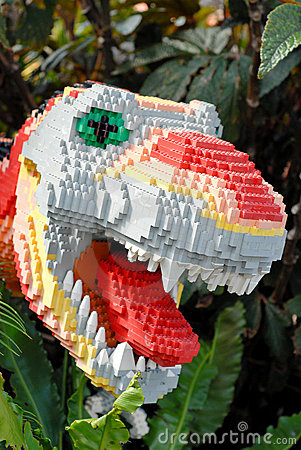 Lego Built Dinosaur Editorial Stock Image