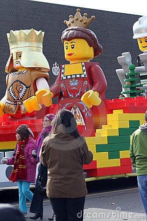 Lego Float - Santa Claus Parade Toronto 2010 Editorial Stock Image
