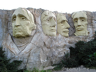 Lego Mount Rushmore Editorial Photo