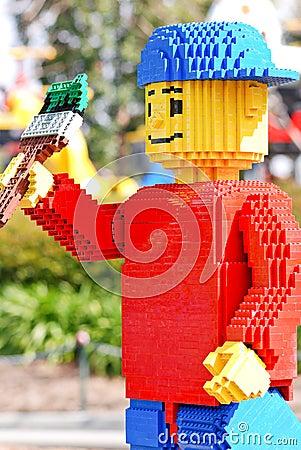 Lego Painter Boy At Legoland Editorial Image