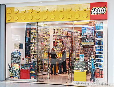 LEGO Shop at the mall Metropolis Editorial Stock Image