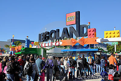 Legoland entrance Editorial Stock Photo