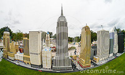 Legoland Florida Miniland USA - New York Skyline Editorial Stock Photo