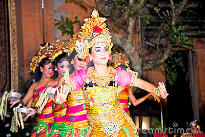 Legong Dance & Ramayana by the Bina Remaja Troupe Editorial Stock Photo
