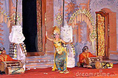 Legong dancer bali Editorial Stock Photo