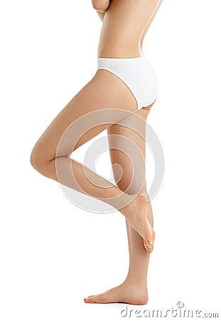 Free Legs And Torso In White Bikini Stock Photo - 2125580