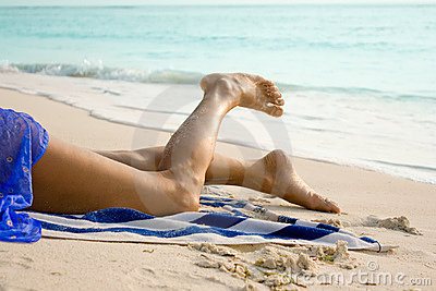 Legs of beautiful woman
