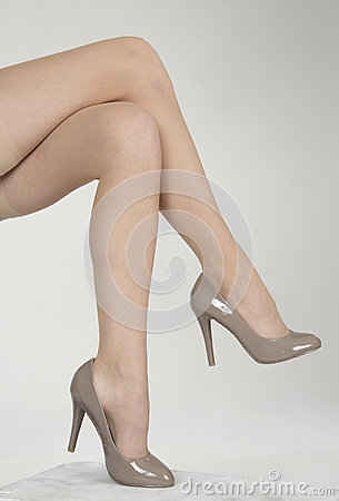 legs crossed high heels royalty free stock images image