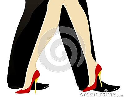 Legs dance
