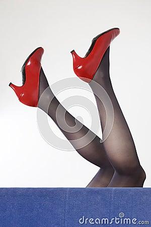 Legs in heel