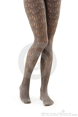Legs long female in tights