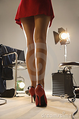 Free Legs Of Young Woman. Stock Image - 3183151