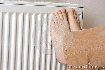 Legs on radiator