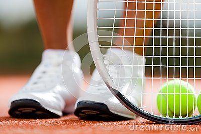 Legs of sportive girl