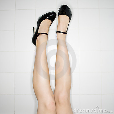 Free Legs With High Heels. Royalty Free Stock Image - 3469516
